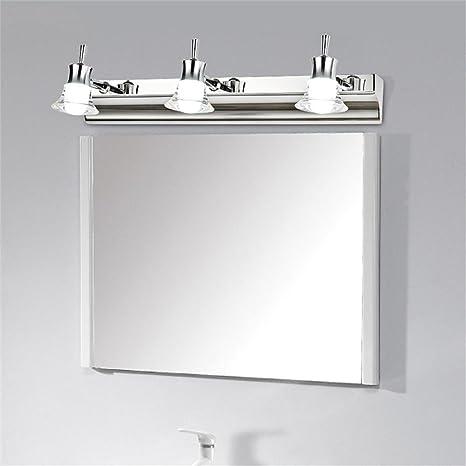 Specchio Bagno Mobile.Specchio Frontale Fari In Acciaio Inox Impermeabile Bagno Nebbia