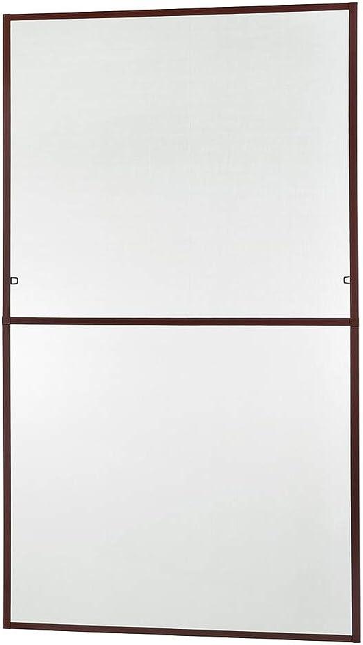 braun oder anthrazit 130 x 220 cm Insektenschutz Fliegengitter Fenster Alurahmen MASTER SLIM XL in wei/ß