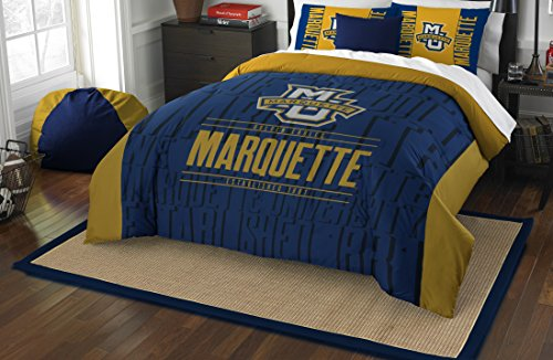 The Northwest Company Officially Licensed NCAA Marquette Golden Eagles Modern Take Full/Queen Comforter and 2 Sham Set