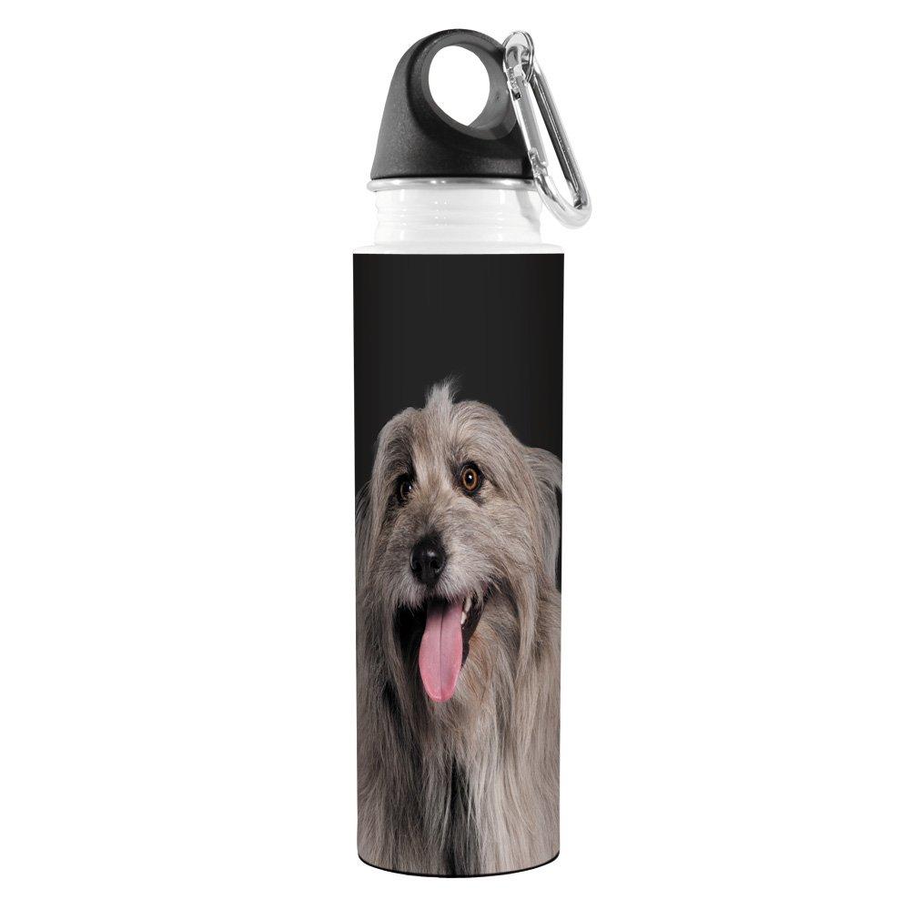 18-Ounce Grey Tree Free Tree-Free Greetings VB49108 I Heart Pyrenean Shepherds Artful Traveler Stainless Water Bottle