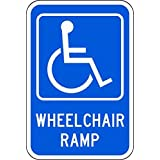Zing Green Products 2357 Eco Parking Sign, Wheel Chair Ramp with Symbol, 3M High Intensity Prismatic, Recycled Aluminum
