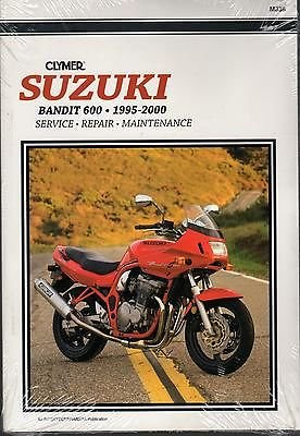 1995-2000 CLYMER SUZUKI MOTORCYCLE BANDIT 600 SERVICE MANUAL NEW M338
