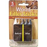 Wood Repair Filler Sticks - 5 Colors -Hides Restores and Repairs Scratches ON Floor Or Furniture
