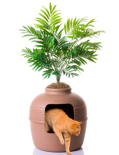 Large-capacity cat litter box looks like a real clay pot