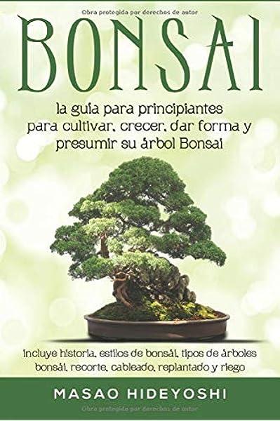 Bonsai: la guía para principiantes para cultivar, crecer, dar forma y presumir su árbol Bonsai: incluye historia, estilos de bonsái, tipos de árboles bonsái, recorte, cableado, replantado y riego: Amazon.es: Hideyoshi, Masao: