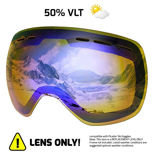 0076134b896 Picador Detachable Dual Layer Anti-Fog Lens For Women And Men Ski Goggles  (Yellow
