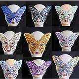 Mask Costume Butterfly Face Eye Mask Masquerade Ball Fancy Dress Fabric Mask (Free Shipping) J1945#