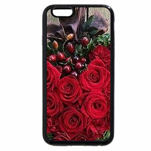 iPhone 6S / iPhone 6 Case (Black) Heart of roses