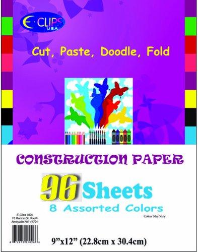 Construction Paper Pack - 96 sheets - 9'' x 12'' 36 pcs sku# 1281353MA