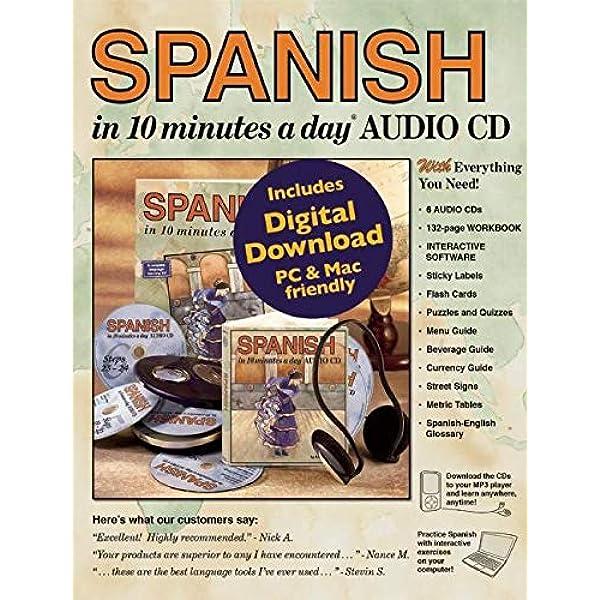 Spanish In 10 Minutes A Day Audio Cd 9781931873864 Kershul Kristine K Books Amazon Com