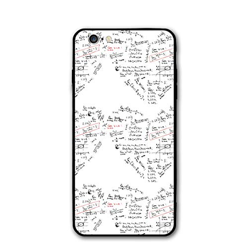 (Phone Case Compatible with iPhone 6Case, iPhone 6s Case, Heart Shape with Math Formula Waterproof Shockproof Soft TPU Cover Cases Non-Slip)