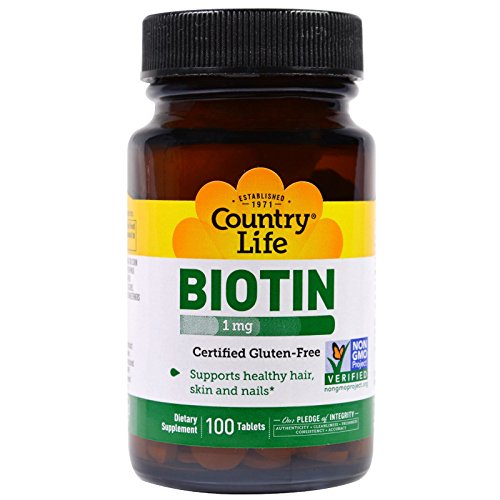 (Country Life, Biotin, 1 mg, 100 Tablets )
