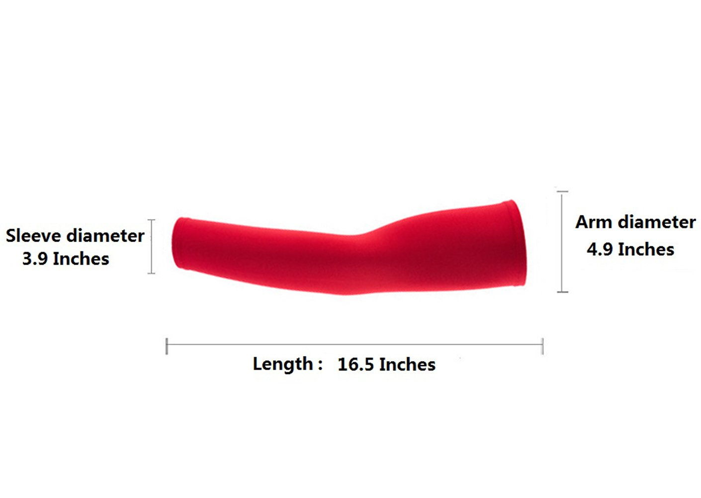 Hi-crazystore Arm Sleeves Sun UV Protection Sleeves (Red)