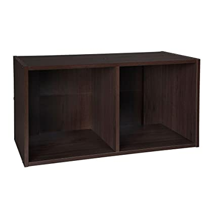 Amazon Com Closetmaid 78817 Cubeicals Organizer 2 Cube Espresso