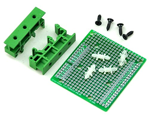 Electronics-Salon DIN Rail Mount Adapter/Prototype PCB Kit For Arduino UNO / Mega 2560 etc.