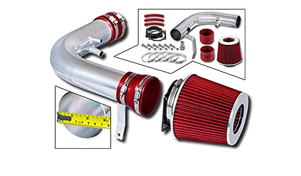 BLACK Cold Air Intake Induction Kit Heat Shield 97-99 F250 Navigator 5.4L V8