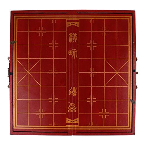 Baosity ヴィンテージ 中国 テラコッタの戦士 チェス 木製 チェスボード チェスゲーム  の商品画像
