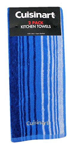 Cuisinart Kitchen Towels Blue Stripe