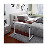 Dingji Home Can Be Raised and Lowered Mobile Computer Desk 80cm50cm Red