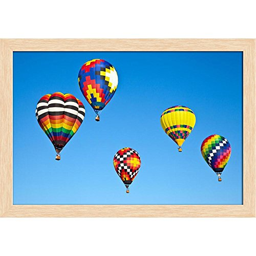 ArtzFolio Balloon Festival Statesvill North Carolina, USA Canvas Painting Natural Brown Frame 8.3 x 6inch -