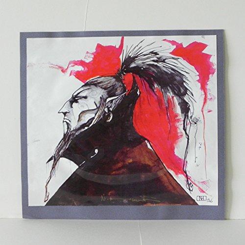 Art Signed Matted Print - NATHALIE HERTZ SIGNED COLOR ART PRINT MATTED 1996 VAMPIRE WARLOCK SIGNED w/COA