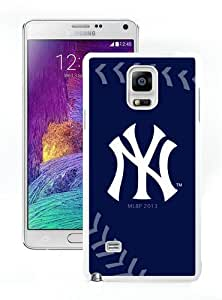 New Unique And Popular Samsung Galaxy Note 4 Case Designed With New York Yankees4 White Samsung Note 4 Cover
