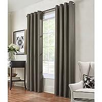 "Common Wealth Home Fashions Henderson Herringbone Curtain, 54 x 95"""