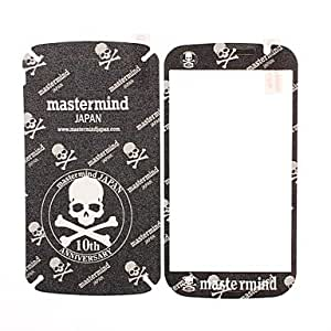 hao Skull Pattern Front and Back Leather Screen Protector Stickers for Samsung Galaxy Grand Duos i9082