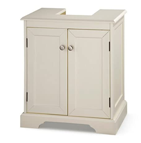 Weatherby Bathroom Pedestal Sink Storage Cabinet - Cream ...