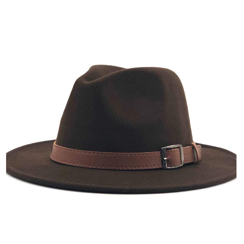 ZLQ Fashion Men Women Fedora Fedora Hat Jazz Hat Summer Spring Black Wool Blend Hat Outdoor Casual Jazz Hat Top Hats