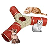 Eyourlife Pet Tunnel Collapsible 3 Way Cat Play Tunnel Pet Tube Toy...