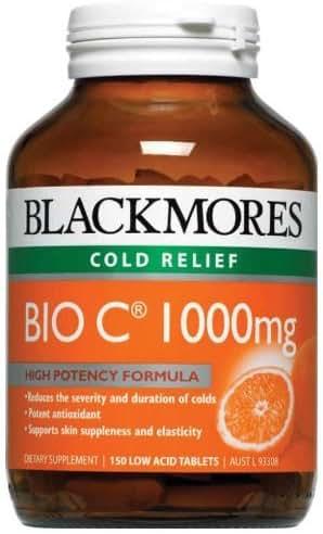 Blackmores Vitamins Bio C 1000mg. 150 Tablets. [Get Free Herbal lozenges]