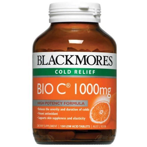 Price comparison product image Blackmores Vitamins Bio C 1000mg. 150 Tablets. [Get Free Herbal lozenges]