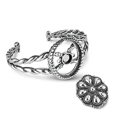 American West Genuine .925 Sterling Silver Interchangeable Cuff Bracelet by American West (Image #6)