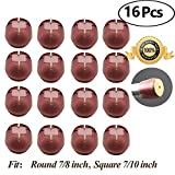 Chair Leg caps Wood Floor Protectors with Felt Furniture Pads, Chair Feet Glides Furniture Carpet Saver, Silicone/Rubber Caps Tips,Fit Round 7/8 inch and Square 7/10 inch 16 Pack