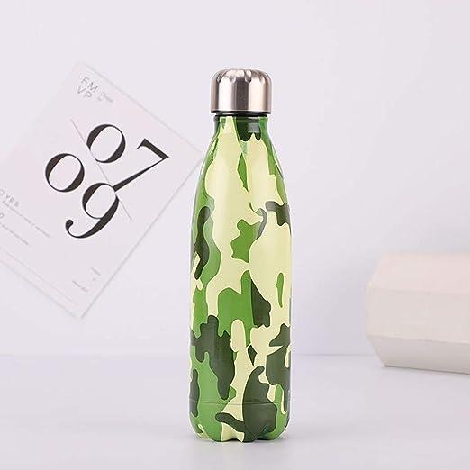 Wekold Botella de Agua en Acero Inoxidable Aislamiento de vacío Mantiene el frío y el Calor, Antigoteo y anticondens, de Cuello Estrecho y sin BPA