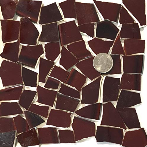 Mosaic Art & Crafts Supply ~ Datk Brown Tiles (B822)