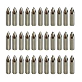 IRQ Metal Glue on Arrowheads 100 grain Archery Targeting Practice Broadheads Tips Bullet Field Points for Bamboo Wooden Arrows Silver 50 Pack