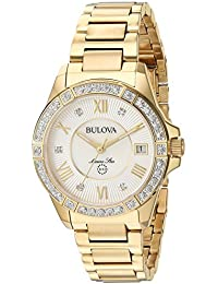 Women's Quartz Stainless Steel Casual Watch, Color Gold-Toned (Model: 98R235)