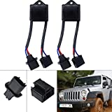 """LED Headlight Anti Flicker H4 to H13 Adapter Harness Auto Computer Warning Canceller Capacitor for Jeep Canbus Decoder Error Code Eliminator Jeep Wrangler JK for any 7"""" Round LED Headlight Systems"""