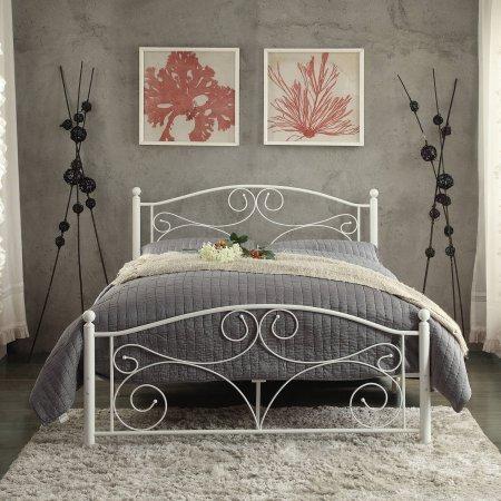 Chelsea Lane Abigail Full Metal Platform Bed, White