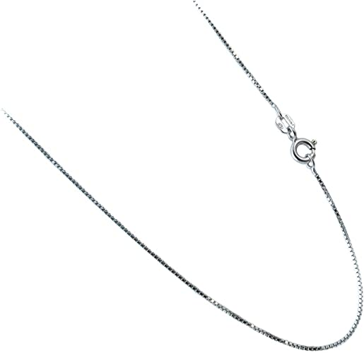 Link Necklace 16,18,20,24,30 inch Rhodium over 925 Sterling Silver Rice Bead