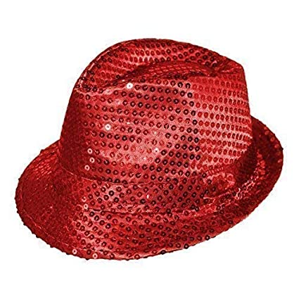 Adulte   Enfants Coloré Déguisement Sequin Chapeau Borsalino - Argent,  Taille Unique  Amazon.fr  Vêtements et accessoires 50ec03feb54