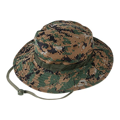 Military Jungle (Roko Tactical Camouflage Hunter Hat Sniper Hidden Jungle Sports Ripstop Combat Caps Wide Brim Bucket Hat Camping Hiking Head Wear (UK Army Camouflage))