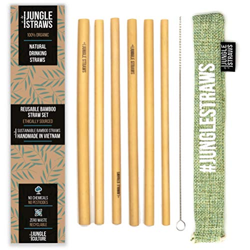 Jungle Straws | Bamboo Drinking Straws | 100% Natural Reusable Straws 8