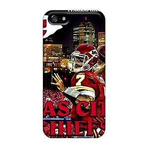 Iphone 5/5s CDj14942Expv Customized HD Kansas City Chiefs Skin Anti-Scratch Hard Phone Case -LisaSwinburnson