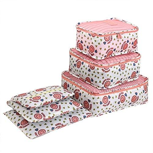 新作人気モデル branxin ピンク – B07G21HPHK Organizacion Del Hogar TraveバッグDirty布ストレージバッグ6pieces/設定コスメティックケースPorta Maquiagemハンドバッグ旅行ポーチ Hogar 1piece ピンク Br-32843445724-LKD-basket-1piece-Pink B07G21HPHK ピンク 1piece, NOLITA fairy stone:d2643b20 --- arianechie.dominiotemporario.com