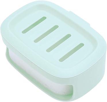 HEALIFTY Caja de jabón Caja de almacenamiento de jabón de baño contenedor de jabón a prueba de agua Jabón Titular de jabón (verde): Amazon.es: Salud y cuidado personal