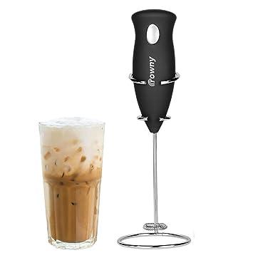 Xelparuca - Máquina eléctrica de espuma para café, mezclador de bebida con batidor de acero
