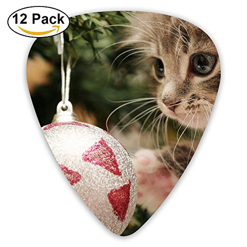 12-pack Fashion Classic Electric Guitar Picks Plectrums Christmas Kitty Instrument Standard Bass Guitarist ()